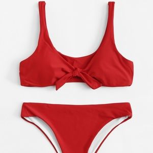 Other - Red Front Knot Bikini